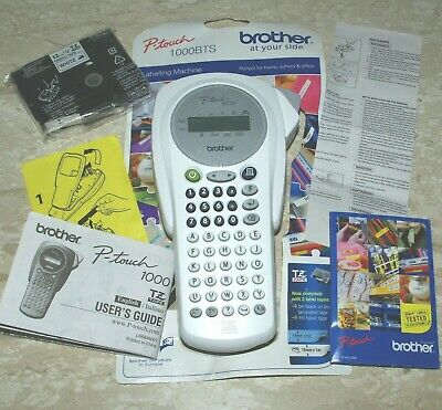£42.92 • Buy Brother P-touch 1000 Label Printer WHITE Batts + Tape = Ready To Use - FREEPOST