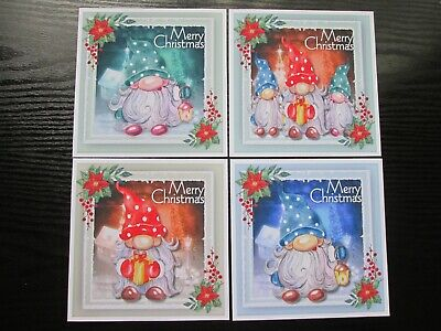 £2.25 • Buy  BUMPER SET ==  4 X  CHRISTMAS GNOMES Card Toppers & Sentiments