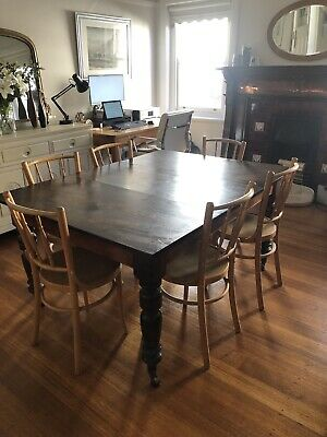 AU450 • Buy Antique Vintage Dining Table, Extendable. Originally An English Library Table.
