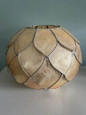£33.99 • Buy Vintage Pale Gold Pearlescent Capiz Shell Artichoke Ceiling Light Shade
