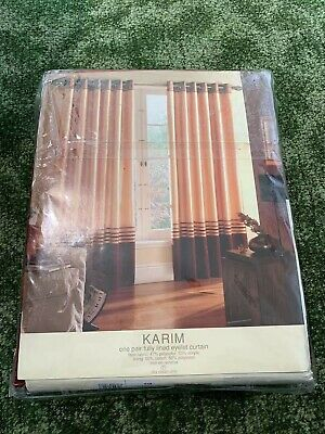 £20 • Buy 1 Pair Of Montgomery Karim Fully Lined Eyelet Curtains 46 Wx54 D - NEW ~RRP £69