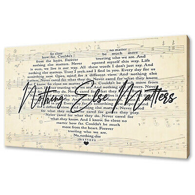 £44 • Buy Metallica Nothing Else Matter Canvas Print Picture Wall Art Free UK Delivery
