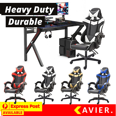 AU138.95 • Buy Office Gaming Chair Computer Gamer Chairs Racer PU Ergonomic Seating Stream Desk