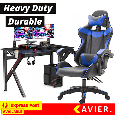 AU129.95 • Buy Executive Office Gaming Chair Premium PU Leather Recliner Computer Gamer Seating