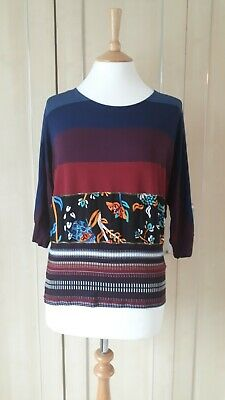 £5.50 • Buy Desigual Striped Top Size L Approx 14