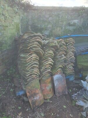 £100 • Buy Reclaimed Handmade Clay Pantiles Vintage Various Profiles Approximately 200-240