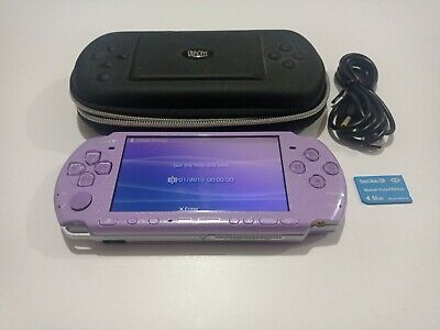£79.95 • Buy Sony PlayStation Portable PSP 3003 Slim Lite Limited Lilac Purple Console + Case