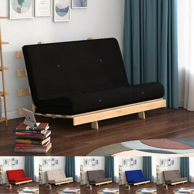 £99.99 • Buy 2ft6 / 4ft Single Double Futon Wooden Frame Sofa Guest Z Bed Foldable Mattress
