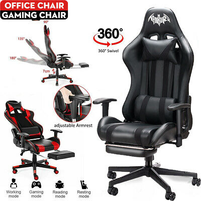 £69 • Buy Racing Gaming Chairs Office Executive Recliner Computer Desk Chair With Footrest