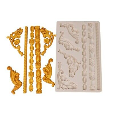 £6.69 • Buy Baroque Scroll Relief Silicone Mould European Frame Cake Fondant Border Molds