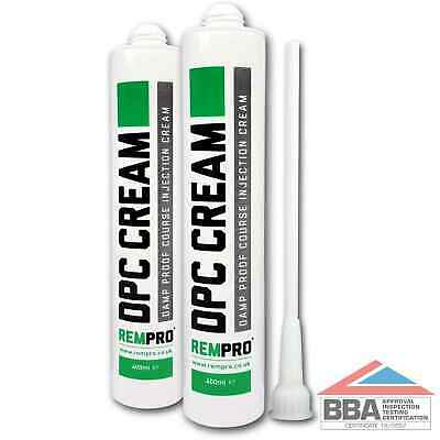 £18.99 • Buy Rempro 2 X BBA Damp Proofing Course Cream - DPC Wall Injection Treatment Control
