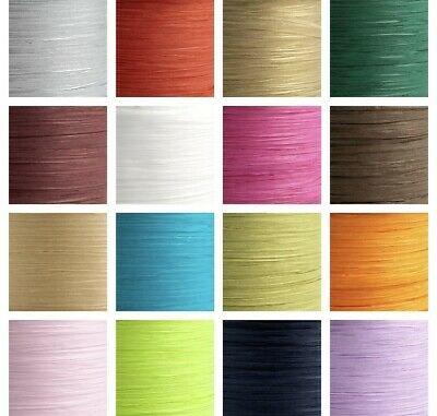 £6.54 • Buy 7mm X 100m Paper Raffia Ribbon - Favour Decoration Wrapping Crafts 100m Reel