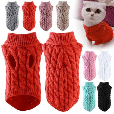 £5.99 • Buy Mini Winter Pet Clothes Jumper Sweater Puppy Sweater Coat Outfits For Small Dogs