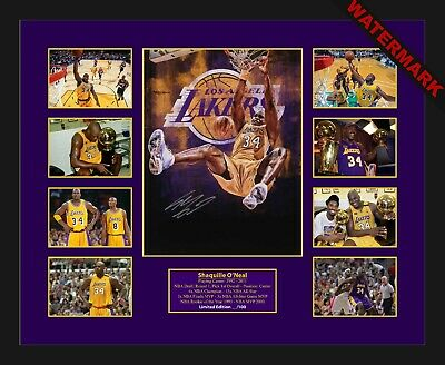 AU98.99 • Buy Shaquille O'neal Shaq Limited Edition Of 100 Only Signed & Framed Memorabilia