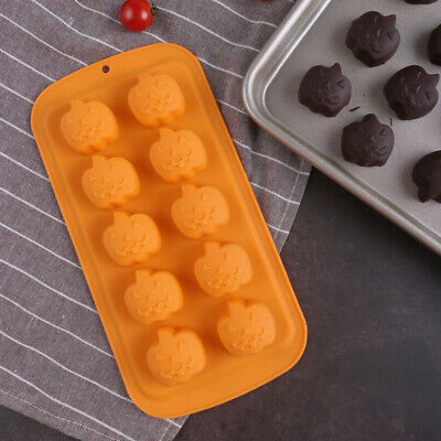£3.69 • Buy Silicone Halloween Pumpkin Chocolate Mould Candy Cookie Ice Cube Tray Jelly Mold