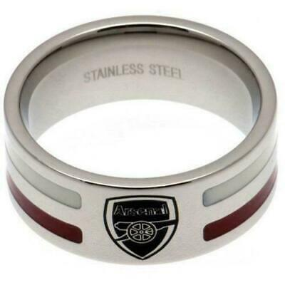 £20 • Buy Arsenal FC Stainless Steel Colour Stripe Ring Size X