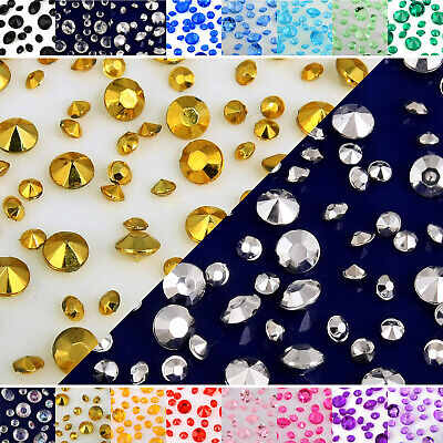 £3.29 • Buy Acrylic Crystal Diamond Confetti Party Wedding Decor Table Scatter Diffe-colors