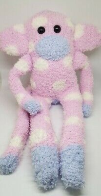£6.99 • Buy Sock Monkey Pinky Birthday Gift Hand Made Soft Toy Pink And White Spots New