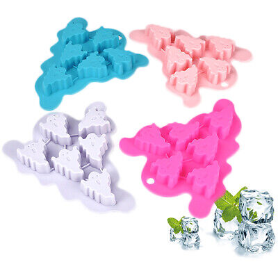 £3.89 • Buy Silicone Halloween Ghost Skull Chocolate Mould Candy Ice Cube Tray Jelly Mold