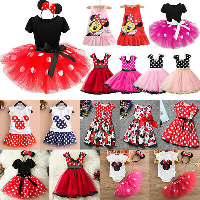 £8.19 • Buy Minnie Mouse Baby Kids Girls Birthday Party Tutu Dress Up Fancy Costume Outfits