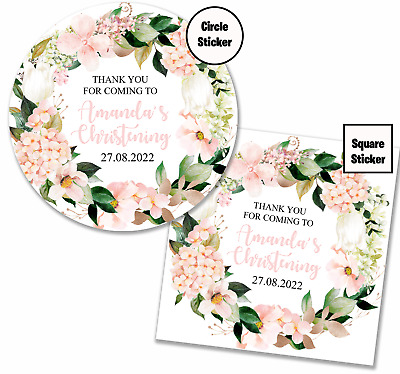 £3.15 • Buy Personalised Party Bag Stickers Christening Baptism Sweet Cone Labels - G001