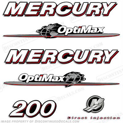 AU120.69 • Buy Mercury 200hp Optimax Decal Kit Replacement Decals For Outboard Motors 2007-2012