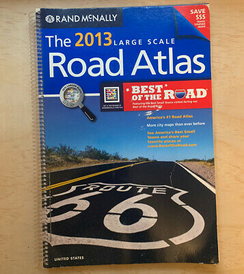 £11.60 • Buy Book Of USA Maps/Large Scale Road Atlas, 2013 Rand McNally, Spiral
