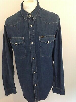 £25 • Buy Lee Denim *pearl Snap Buttons* Mens Shirt Large