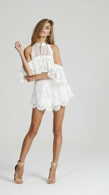 """AU50 • Buy ALICE MCCALL """"Better Be Good To Me"""" White Playsuit Sz 6 Designer"""