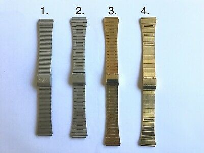 AU7.99 • Buy Vintage Stainless Steel Wrist Watch Band With Adjustable Clasp18mm