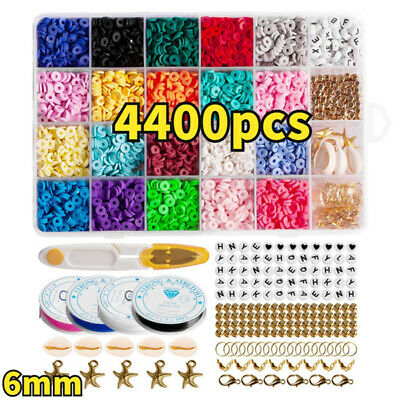 £7.42 • Buy 1Set Flat Polymer Clay Beads Spacer For DIY Bracelets Jewelry Making Finding