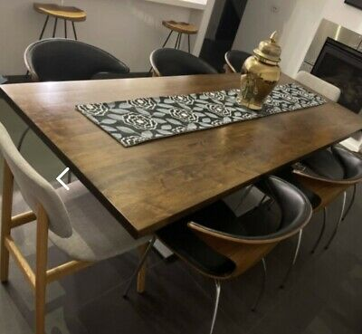 AU1500 • Buy Dining Table Walnut Solid Timber And 8 Chairs (bought From Gainsville)