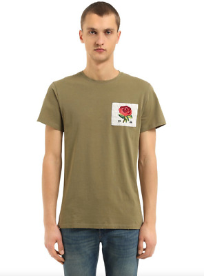 £32.95 • Buy KENT & CURWEN Mens T-Shirt Casual Crew Neck Rose Chest Patch KHAKI Top Size NEW