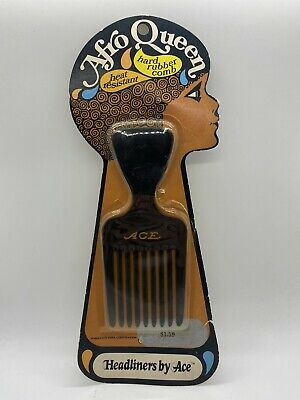 £25.46 • Buy Vintage Ace Combs Afro Queen Hard Rubber Hair Pik Pick Sealed New Old Stock S3