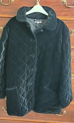 £30 • Buy Luisa Spagnoli Black Velvet Quilted Jacket Size Large Very Good Condition