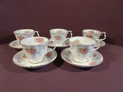£35 • Buy Royal Albert Tranquility Pattern, 5 X Teacups And Saucers