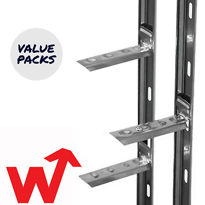 £9.99 • Buy Catnic   Wall Starter Kits   2.4m   Stainless Steel   Includes Ties And Fixings