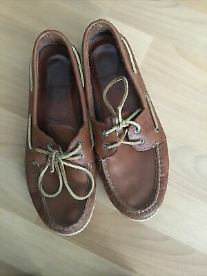 £25 • Buy Sperry Top Sider Deck Boat Shoes Tan Leather 10
