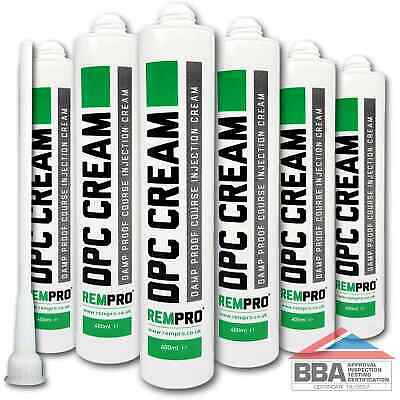 £42.99 • Buy Rempro 6 X BBA Damp Proofing Course Cream - DPC Wall Injection Treatment Control