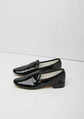 £101.77 • Buy New Repetto Michael Loafer Flats Shoes Black Patent Leather