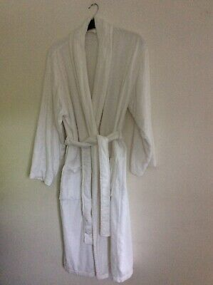 £18 • Buy M &S Velour White Towelling Dressing Gown- Robe Size Large (L)