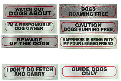 £2.69 • Buy DOG STICK ON SIGNS 17x4cm (part 6)