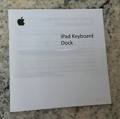 £4.99 • Buy Apple IPad 30-pin Keyboard Dock Instructions Only (Keyboard Not Included)