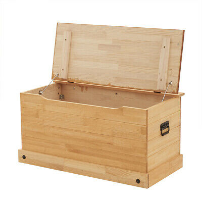 £66.99 • Buy Large Solid Pine Storage Ottoman Chest Toy Bedding Blanket Trunk  Bench Box