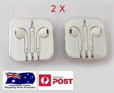 AU13.98 • Buy Earphones (2X) - 3.5 Mm Jack With Mic For Iphone/Samsung/Huawei/Oppo/Xiaomi Etc.