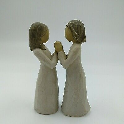 £15 • Buy Willow Tree  Sister By Heart  2000 Pair Of Figurines Holding Hands - Unboxed