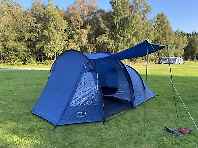 £75 • Buy HighPoint 4 Person Tunnel Tent With Porch And Ground Sheet