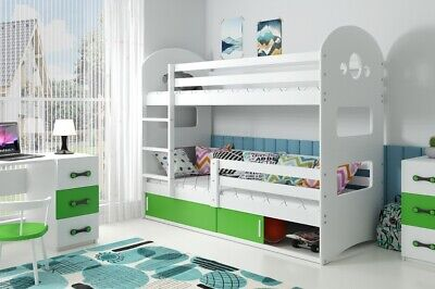 £399 • Buy Kids Bunk Bed DOMIN Toddler  Bed With Storage FREE Mattresses Free Delivery