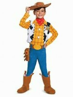 £18.28 • Buy Deluxe Toy Story 4 Woody Costume Child Size Med 7-8 NWT Disney Halloween