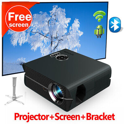 AU463.50 • Buy Android 9.0 Video Projector Native 1080P Home Cinema Wifi Blue-tooth Full HD USB